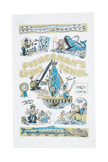 Fisherman's Tall Tales Tea Towel