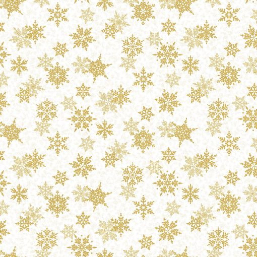Shimmer Frost Large Snowflakes, White & Gold