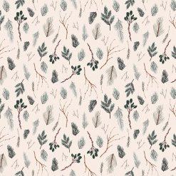 Winter Frost, Twigs Beige, Multi, Figo Fabrics