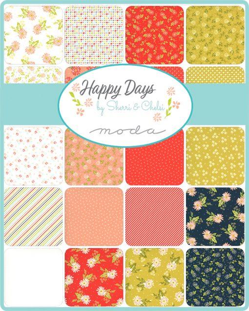 Happy Days, Moda Fabrics, Jelly Roll