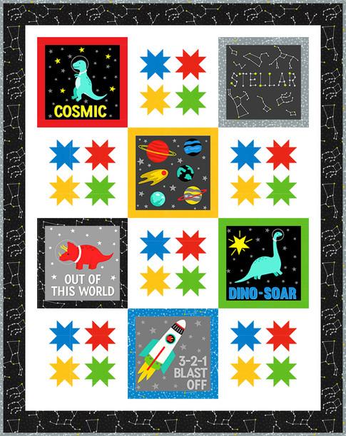Dino-Soar Stellar, Robert Kaufman Fabrics