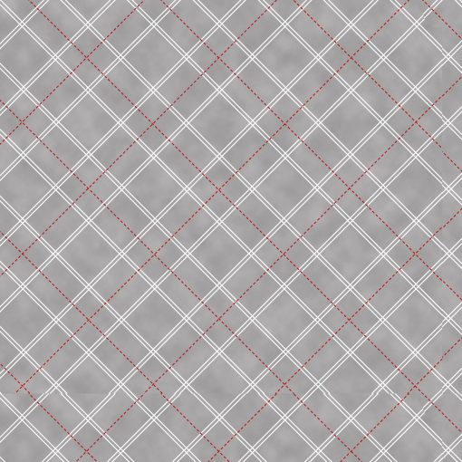 Holiday Lane, Plaid, Henry Glass, Red/White/Gray
