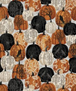 Spooky Night, Studio E, Damask Pumpkins