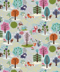 Forest Babes Animal Toile Light Gray