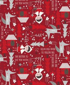 Little Red, Pathway through the woods, Little Red Riding Hood Fabric, Clothworks