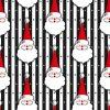 Christmas Magic, Smidges Mod Santa Stripe, Black, Yardage
