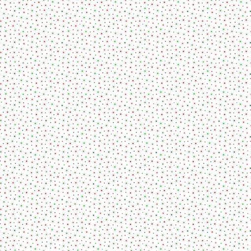 Christmas Magic, Sparkling Stars, White, Northcott Fabrics, Yardage (Metallic)