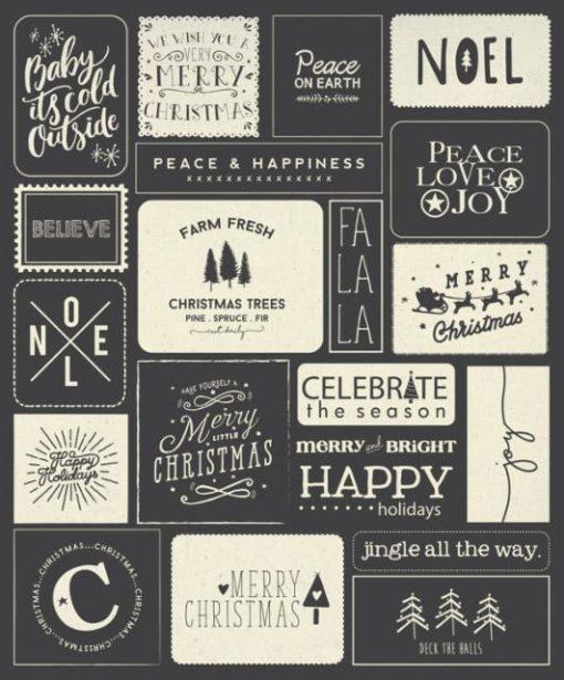 Printworks Holiday Wishes Christmas Panel, MODA