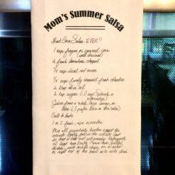 Handwriting on Tea Towels, Heirloom Gift