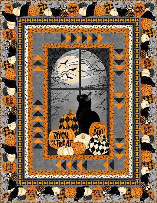 Black Cat Capers Quilt Kit, Northcott Fabrics