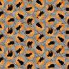 Black Cat Capers, Cats in Moon, Northcott Fabrics