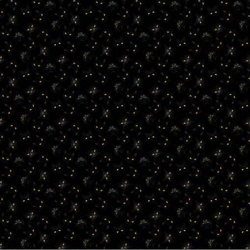 Black Cat Capers, Cats Eyes, Northcott Fabrics