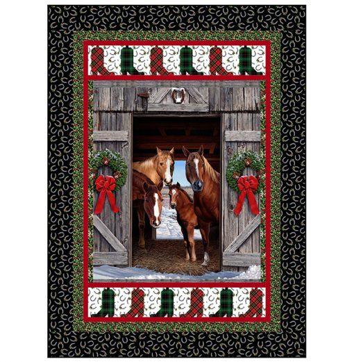 Christmas Horses Quilt Kit