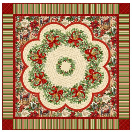 Old Time Christmas Table Topper