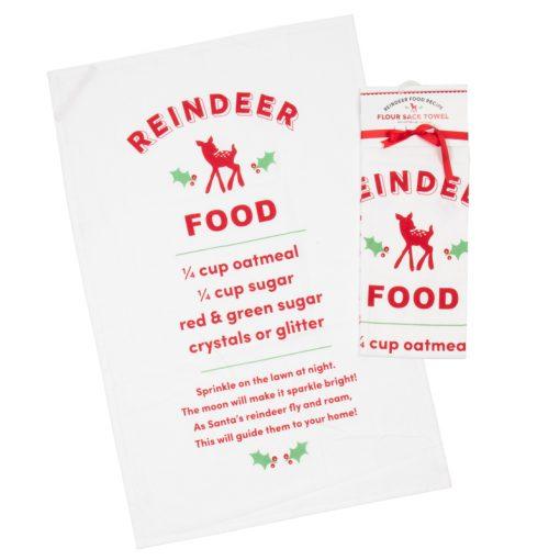 Reindeer Food Tea Towel