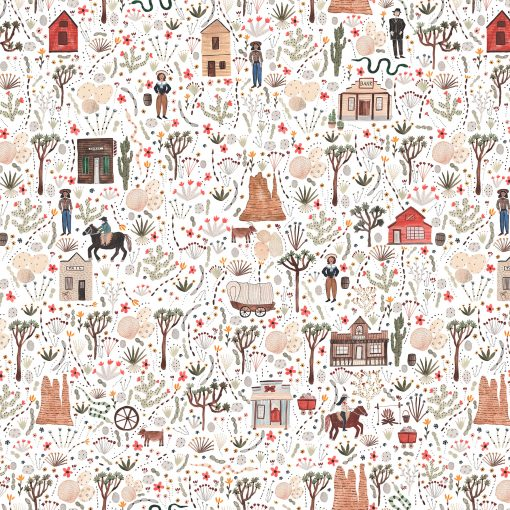 Wild West, Town, FIGO Fabrics