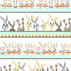 Harold the Hare Pictorial Stripe, World of Susybee, Clothworks