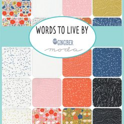 Words to live by fabric collection